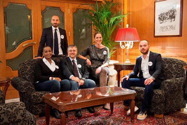 Da sinistra Cathy Mulumba (dottoressa-anatomopatologa-congolese), Fabio Formisano (Opsobjects), Roberto Moretti (Cesvi), Annamaria-Parola (Fondazione Veronesi