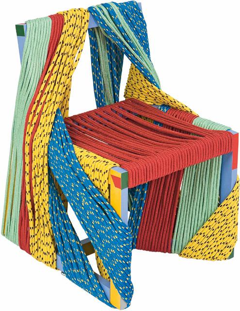 Sedia Africa in legno e corda, design Rodrigo Almeida, autoproduzione