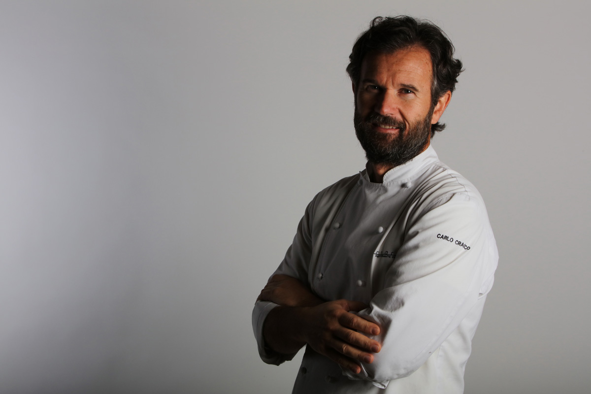Chef Carlo Cracco al festival del Prosciutto di Parma