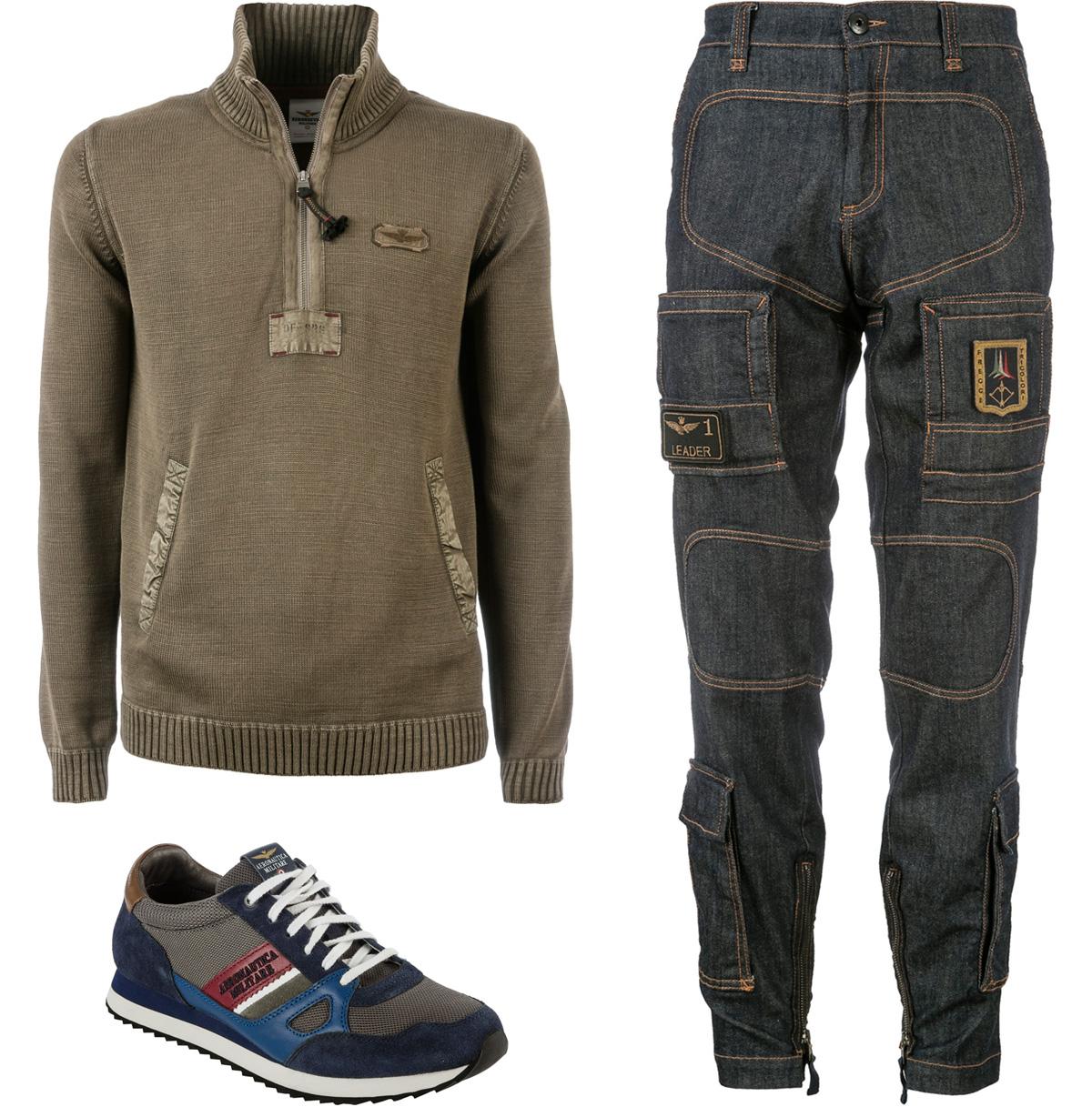 aeronautica-militare-maglione-sneaker-pantaloni