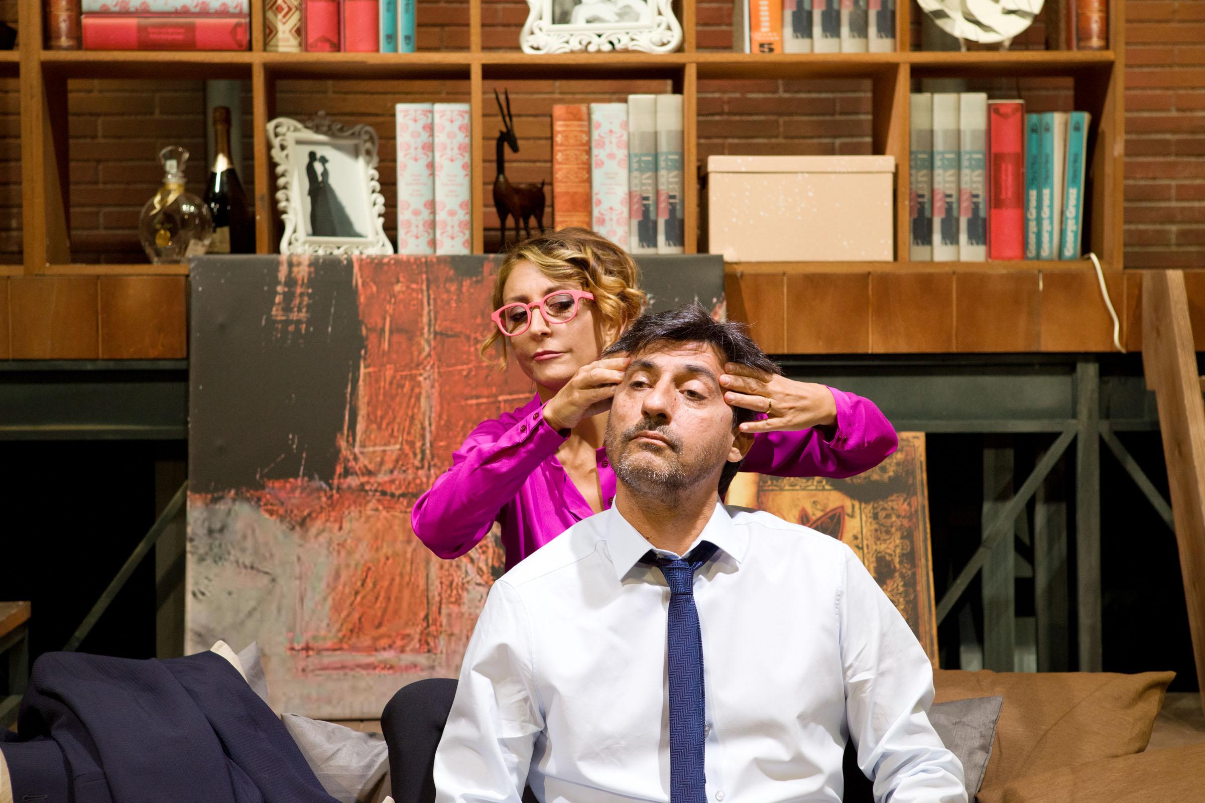 Emilio Solfrizzi e Paola Minaccioni